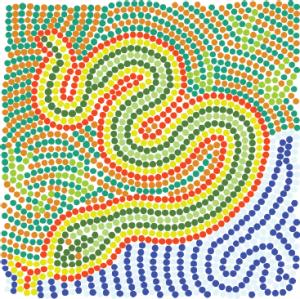 Aboriginal Snake art Design